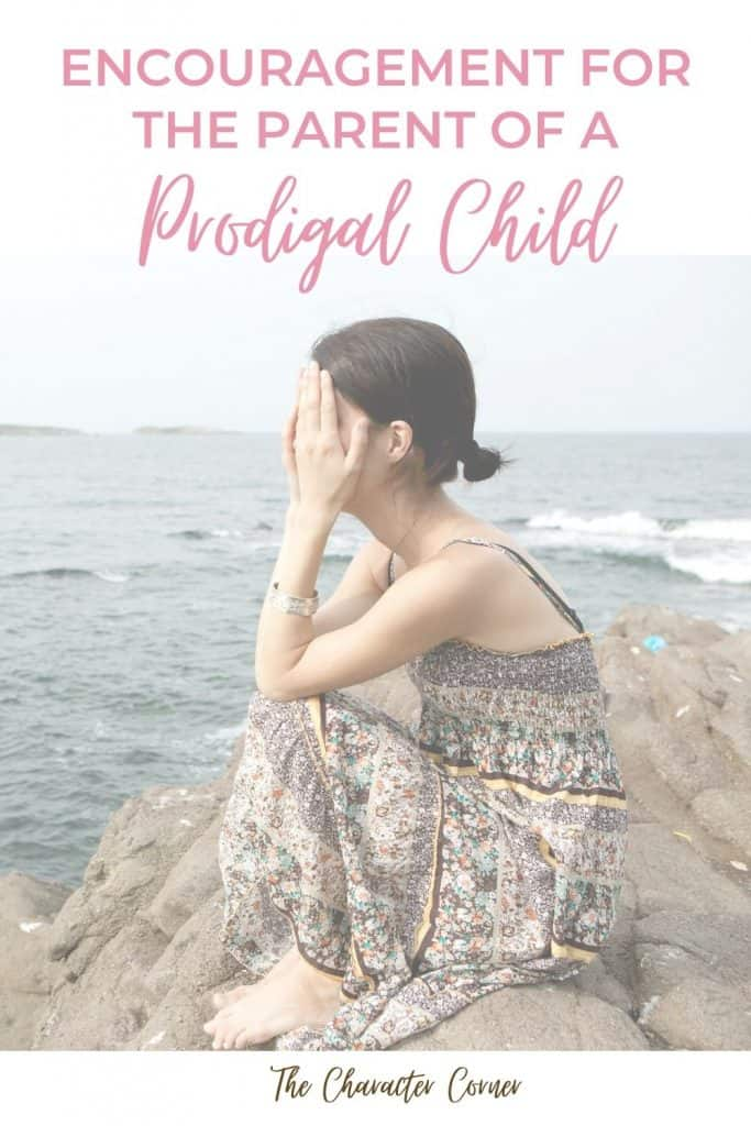 Encouragement for the parent of a prodigal child. Image of discouraged woman sitting by the ocean