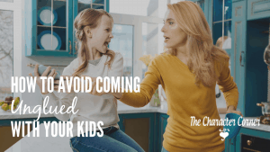 Over th years of raising our 8 kids and being over-reactive quite often, I learned some tips to help you avoid coming unglued with your kids.