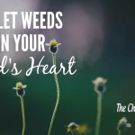 Don't Let The Little Weeds Grow In Your Child's Heart