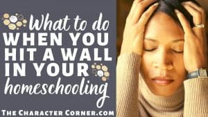 stressed homeschool mom hit a wall of discouragement