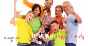 tips for a big happy family