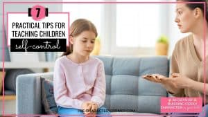Text on image:7 Practical Tips for Teaching Children Self-Control Mom and daughter arguing