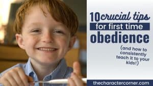 young boy smiling in obedience after his mom learned 10 crucial tips to first time obedience