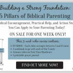 Building A Strong Foundation – 5 Pillars Of Biblical Parenting
