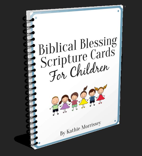 Biblical blessing Scripture cards for children
