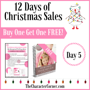 Day 5 Products 12 Days of Christmas Promo Graphics The Character Corner