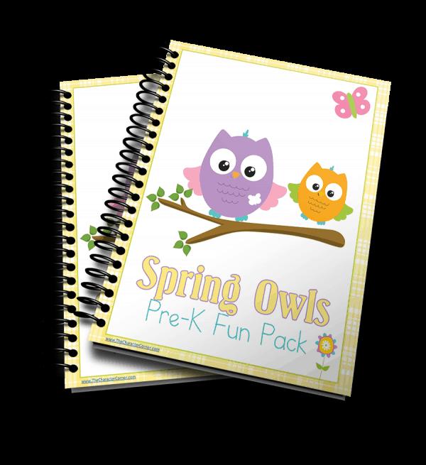 Spring Owls 3d Pre K Fun Pack