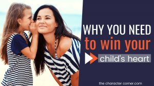 daughter is whispering to mom about Why You Need To Win Your Child's Heart