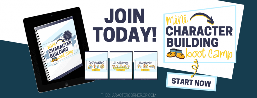 The Character Corner Mini Character Building Boot Camp!