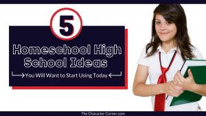 High School Girl with Homeschool books and ideas