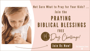 Girl learning how to pray biblical blessings