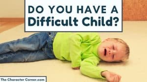 child being difficult and laying on floor throwing a fit