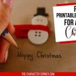 Free Printables And Activities For A Joyful Christmas