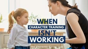 mother and daughter talking about character and behavior