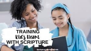 text on image reads training and correcting the heart with scripture