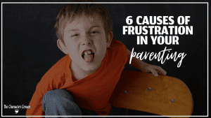 boy angry up on chair throwing tantrum text on image reads Causes of Frustration in Parenting